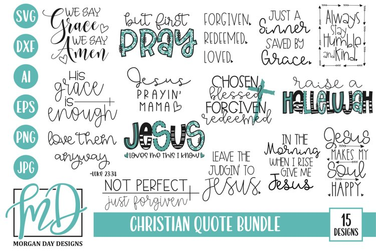 Inspirational Quote - Jesus - Christian Quote SVG Bundle example image 1