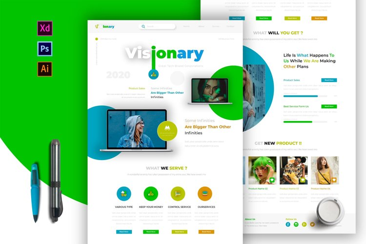 Visionary | Email Newsletter Template example image 1
