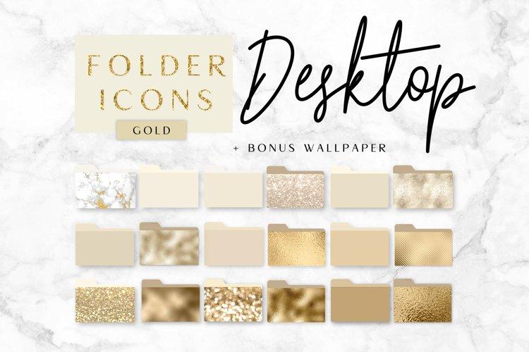 Icons Desktop folder, gold, photoshop example image 1