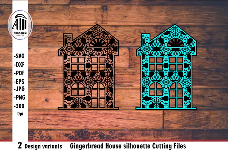 House svg. Gingerbread House silhouette Laser cutting. example image 1