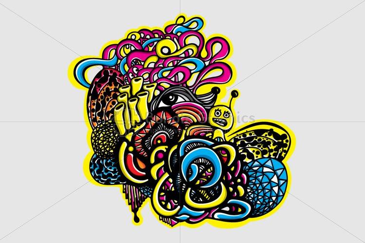 Snail Graffiti Vector Graphic Composition