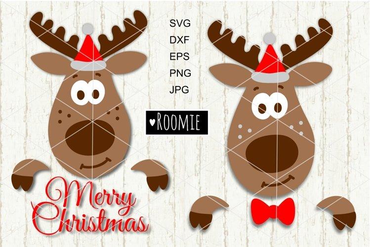 Reindeer in Santa hat SVG, Christmas Reindeer svg New year