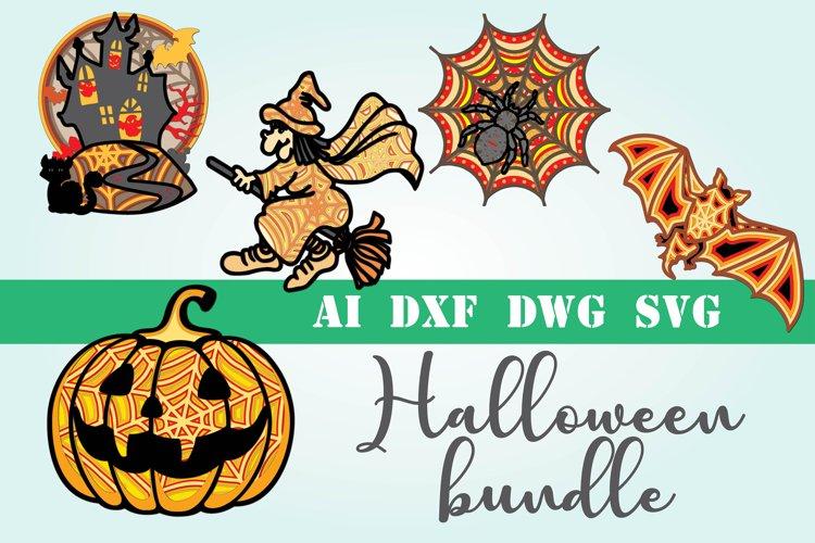 3d mandala Halloween bundle 5 designs example image 1