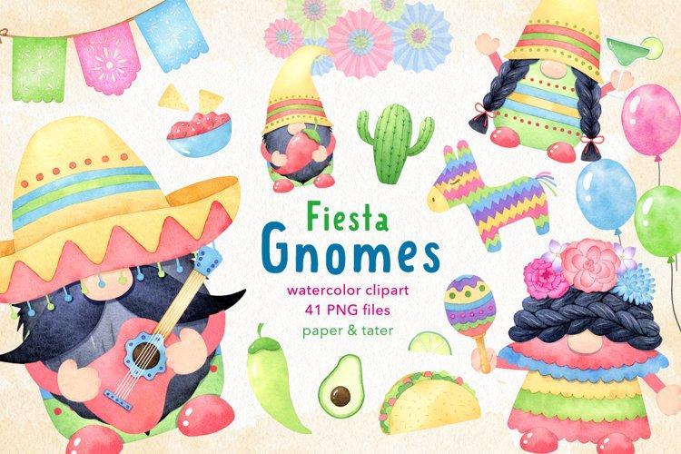 Watercolor Cinco de Mayo Fiesta Gnomes Clipart Mexican Party