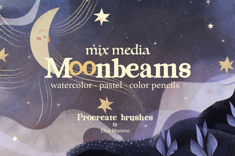 Moonbeams Mix Media brushes example image 1