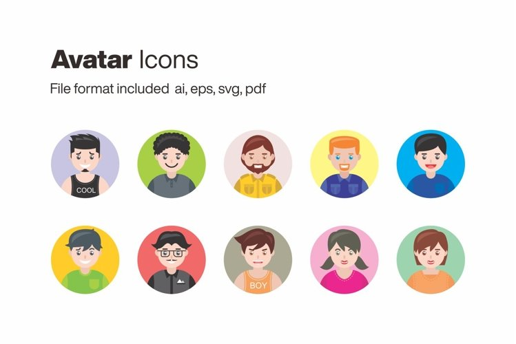 Avatar 10 Icons example image 1