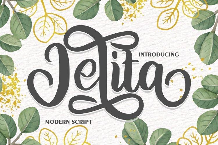 Jelita | Modern Script example image 1