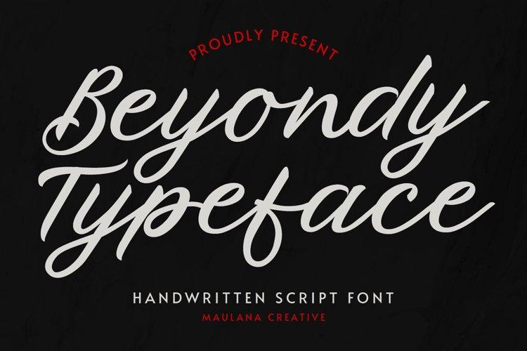 Beyondy Handwritten Script Typeface example image 1