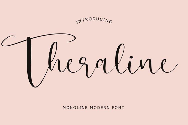 Theraline Monoline Modern Font example image 1