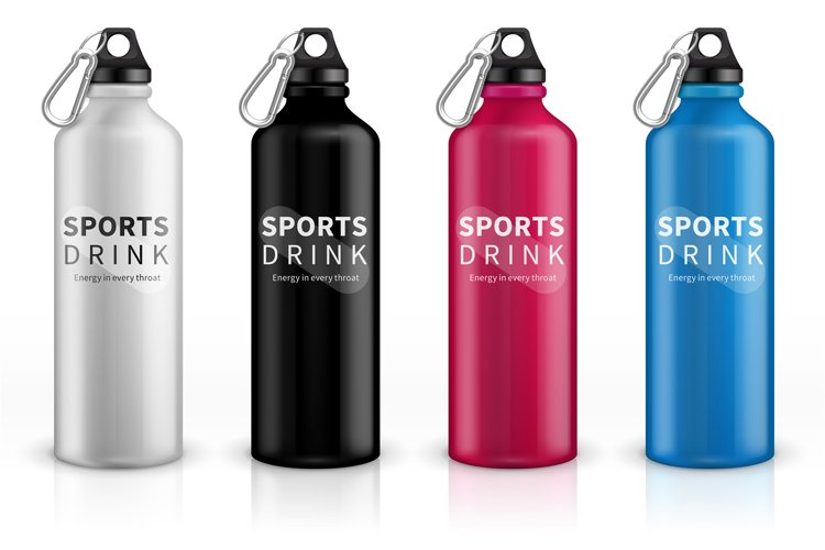 Sports stainless bottles. Bike metal reusable drink flask. 3 example image 1