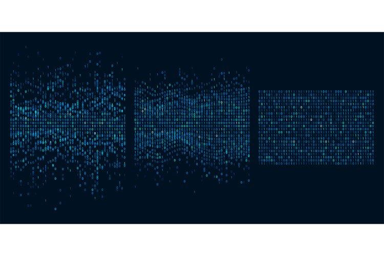 Big data sorting. Information analytics algorithms, machine example image 1