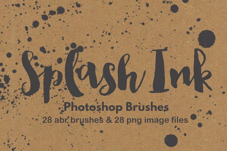 Photoshop brush watercolor paint splatter grunge background example image 1