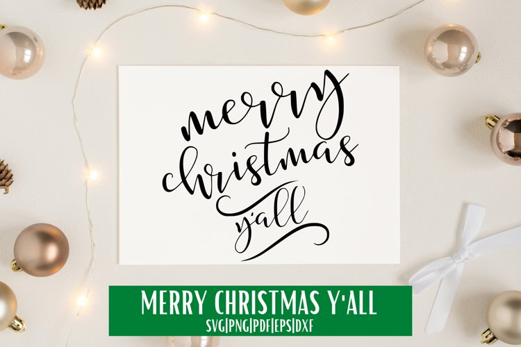 Merry Christmas Y'all Script SVG example image 1