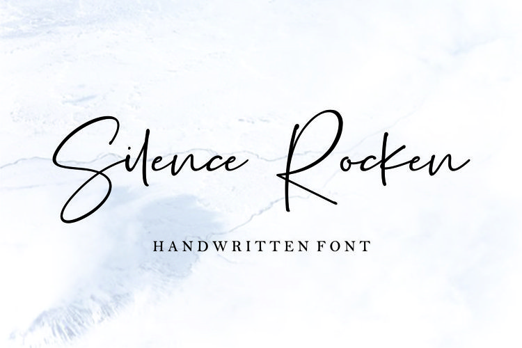 Silence Rocken // Handwritten Font example image 1