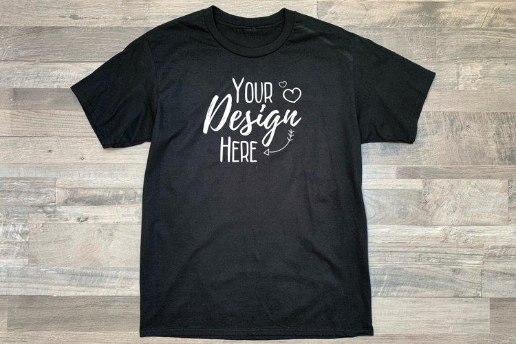 Plain Black T-Shirt Mockup / Flat Lay Design / Summer Design example image 1
