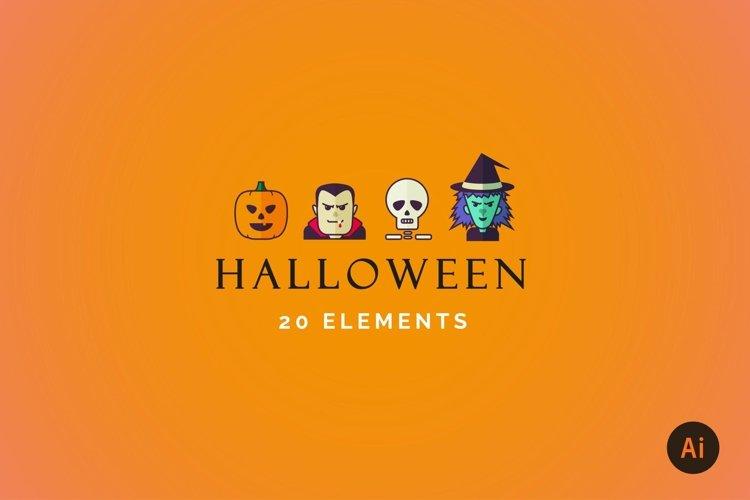 Halloween Flat Icon Set example image 1