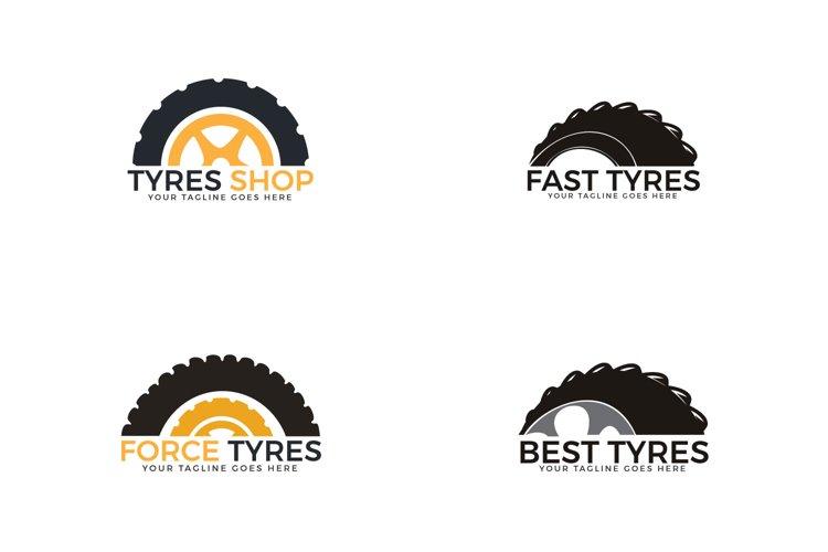 Set of Tyres logo design. example image 1