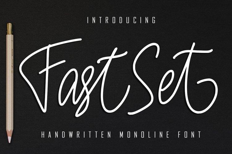 FastSet Handwritten Monoline Font example image 1