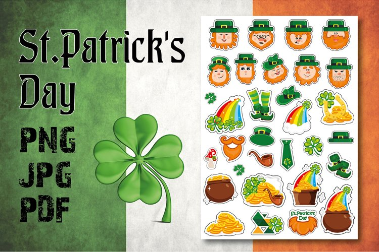 St. Patricks Day stickers / illustration / planner