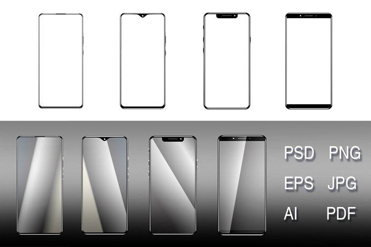 Smartphone mock-up example