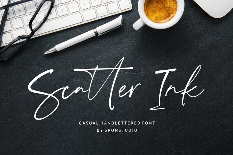 Scatter Ink | Handlettered Font example image 1