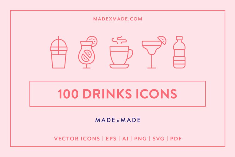 Line Icons - Drinks example image 1