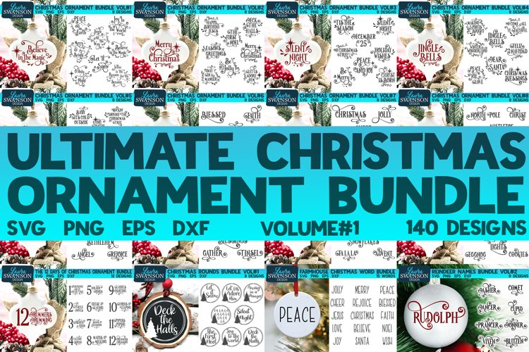 Ultimate Christmas Ornament Bundle | Christmas SVG Bundle example image 1