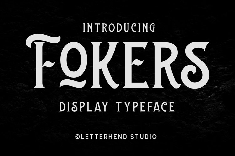 Fokers - Display Typeface example image 1