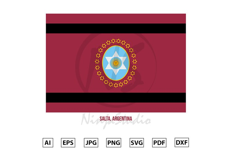 Salta Flag Vector. Flag of Argentina Provinces example image 1