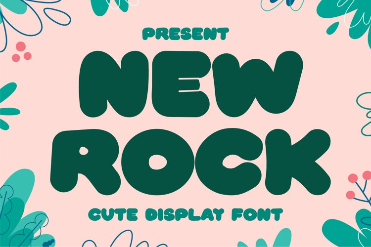 New Rock - Cute Display Font example image 1