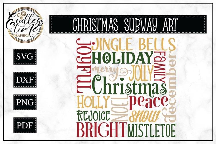 Christmas Subway Art SVG or Sublimation Design
