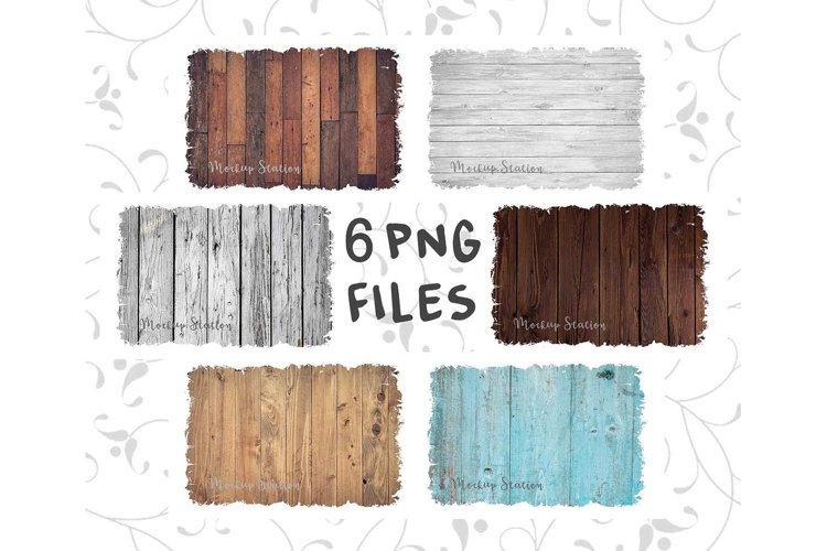 Wood Sublimation Background PNG Bundle, Frame Clip Art Splat - Free Design of The Week