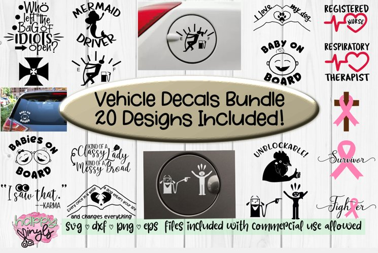 Vehicle Decals Bundle of 20!- A Car and Truck Decals Bundle
