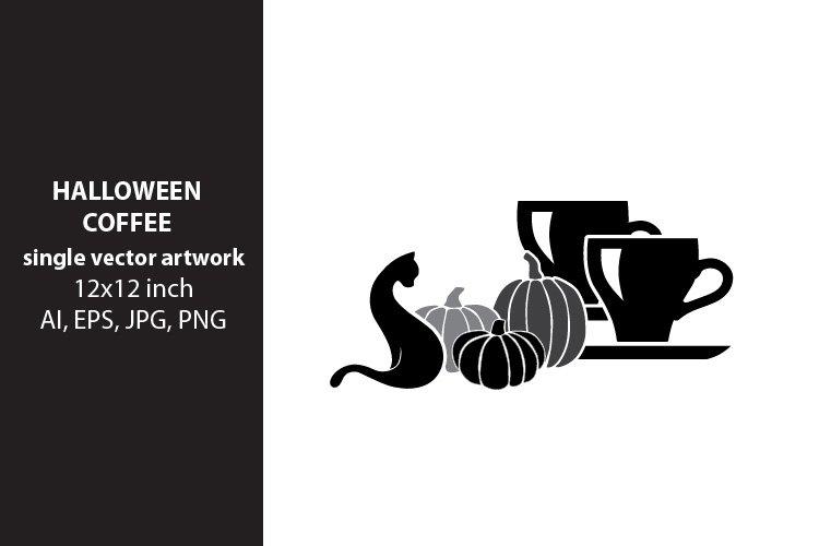 Halloween coffee, VECTOR ARTWORK example image 1