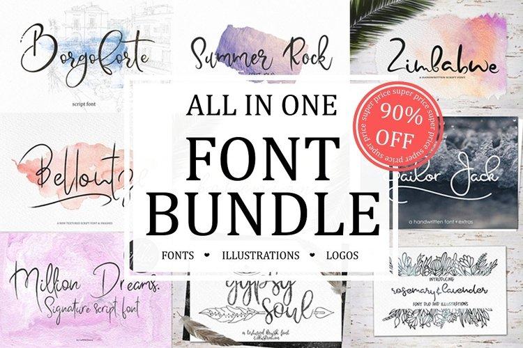 Font Bundle Sale example image 1
