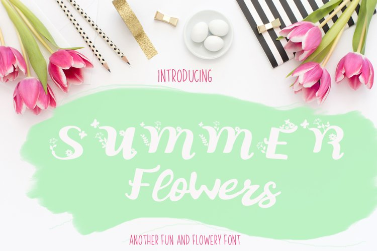 Summer Flowers Fun and Flowery Font example image 1