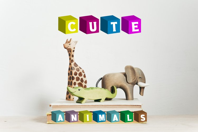 Color Cubes Font example image 1