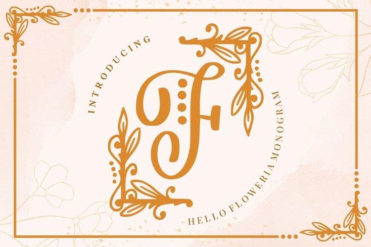 Hello Floweria - a Monogram Letter