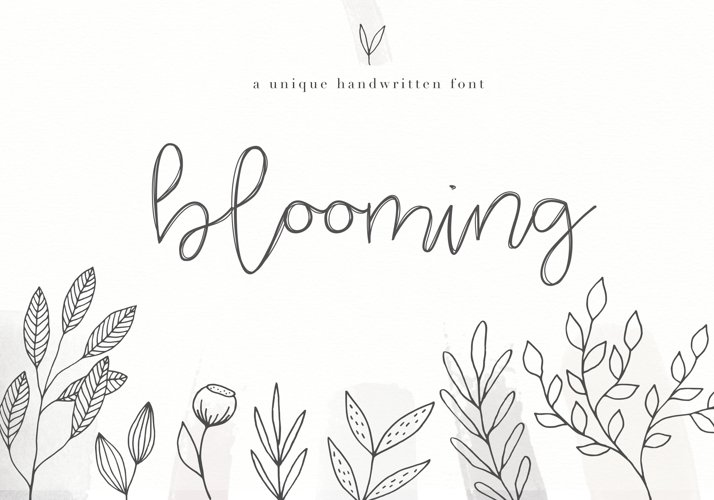 Blooming - Handwritten Font example image 1