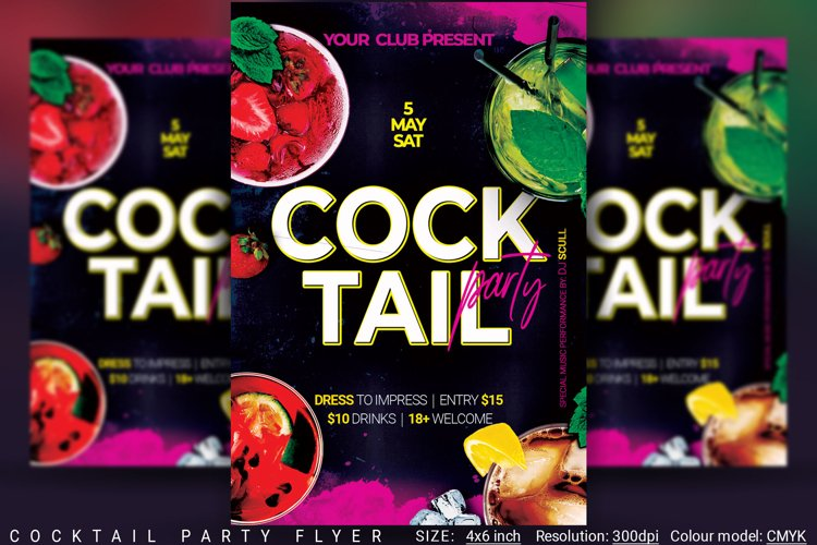 Cocktail Party Flyer example image 1