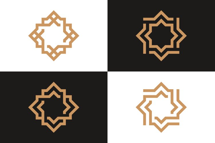 4 Luxury Geometric Logo Collection