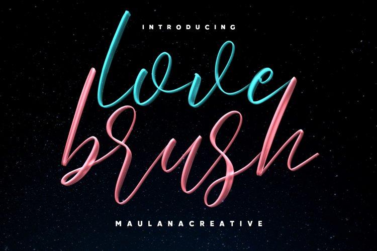 Love Brush SVG Font - Free Sans example image 1