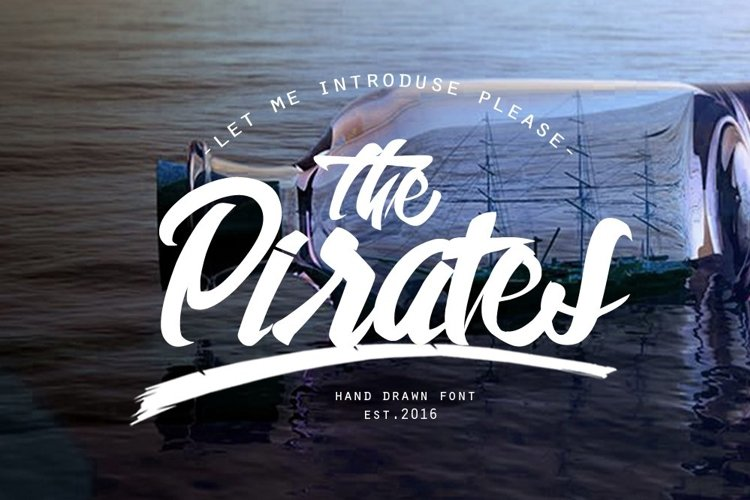 Web Font The Pirates example image 1