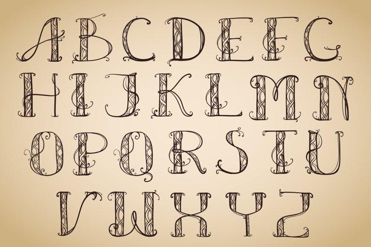 Alphabet Art Deco capital example image 1