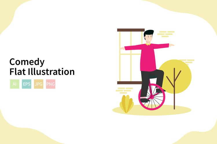 Comedy Circus Vector Illustration In Flat Modern Style example image 1