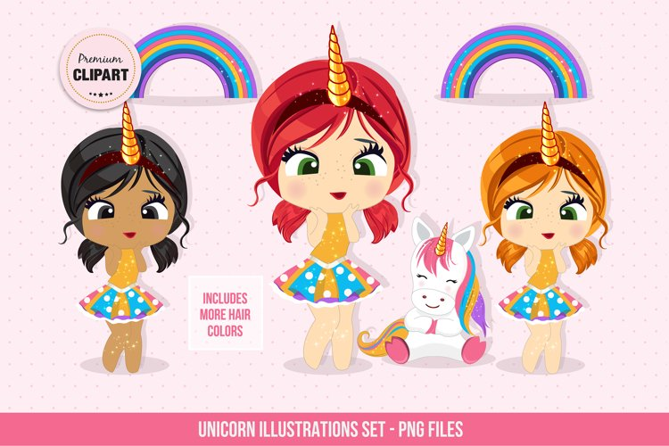 Unicorn clipart, Fairy tail graphics example image 1