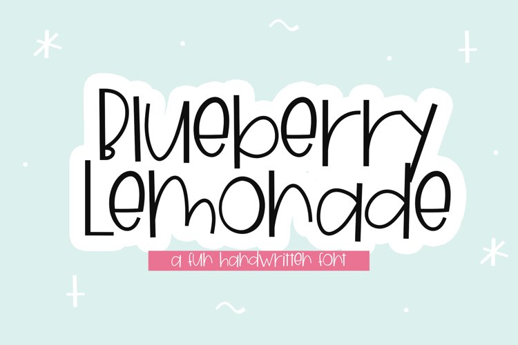 Blueberry Lemonade - A Fun Handwritten Font example image 1