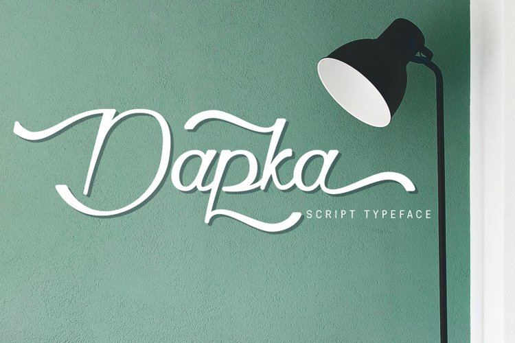 Dapka Script Typeface example image 1