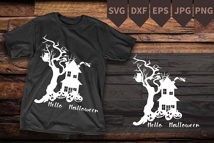 Hello Halloween shirt,t shirt halloween digital file example image 1