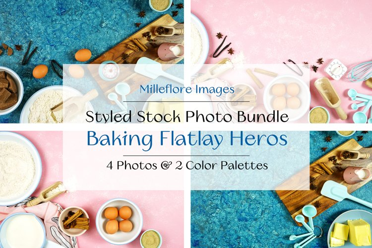 Baking Flatlay Branding Blog Hero Header Styled Photo Bundle